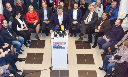 Sisak: Predizborni skup Zorana Milanovića u Gradskom muzeju