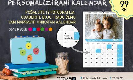Novax personalizirani kalendar A5 reklama