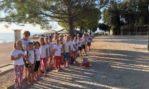 djeca, škola, igra, pijesak, sport
